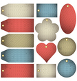 Set of special colour bubble with knitwear texture vector image
