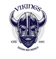 skull viking warrior in t-shirt design style vector image vector image
