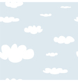 Tile sky pattern white clouds on blue background vector image