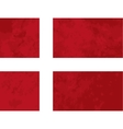 True proportions Denmark flag with texture vector image