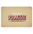 welcome to prague vector image vector image