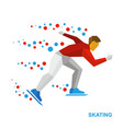 winter sports - skating skater running on white vector image