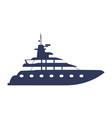 yacht luxury boat vector image