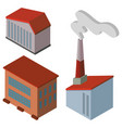 different designs of factory buildings vector image