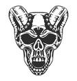 skull horned demon vector image