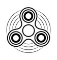 fidget spinner contour icon hand rotation vector image