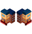 3d design for apartment building vector image