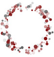 abstract confetti transparent dots vector image vector image