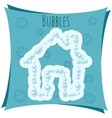 Abstract element House made of bubbles vector image