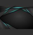abstract metallic modern blue black frame design vector image