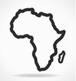africa continent shape outline simplified