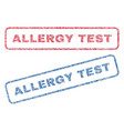 allergy test textile stamps