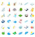 aqua icons set isometric style vector image vector image