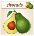 Avocado Cartoon icon vector image vector image