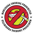banner marijuana smoking prohibiting vector image