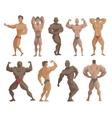 Bodybuilders characters vector image