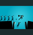 businessman broke free from his winder to save vector image vector image
