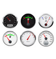 car gauges set - speedometer tachometer and fuel vector image