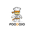 cartoon karate food chef vector image