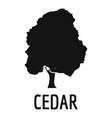 cedar tree icon simple black style vector image vector image