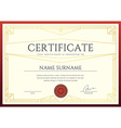 Certificate or Diploma Template ready for Print or vector image