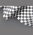 checkered flag wave gray design for sport race vector image