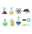 chemical laboratory flask glassware tube liquid vector image vector image