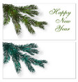 christmas new year postcards business cards vector image vector image
