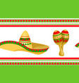 cinco de mayo mexican festive seamless pattern vector image