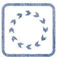 circulation fabric textured icon vector image vector image