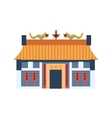 Classic Chinese House With Dragons On The Roof vector image vector image