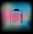 clipboard or checklist icon vector image