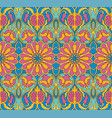 colorful floral pattern with pomegranates vector image