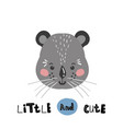 cute cartoon little animal childish print for vector image vector image