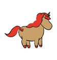 cute fantasy unicorn character fairytale vector image vector image
