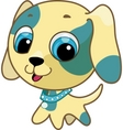 cute puppy vector illustration vector image vector image
