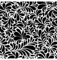 damask teardrop black ornament seamless pattern vector image