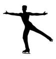 dancing man skating vector image vector image
