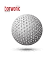 Dotwork Golf Sport Ball Icon made in vector image vector image