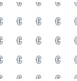 euro icon pattern seamless white background vector image vector image