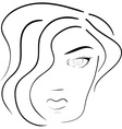 face of woman vector image vector image