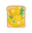 flat icon of appetizing sandwich toasted vector image vector image
