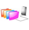 Folder management on mobile vector image vector image