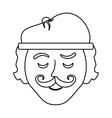 frenchman character cartoon vector image