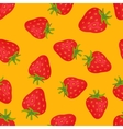 Fruits strawberries seamless patterns vector image vector image