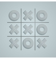 Glass Tic Tac Toe vector image