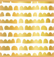 gold foil abstract doodle shapes horizontal vector image vector image