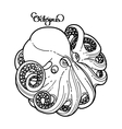 Graphic octopus in a circular shape vector image vector image