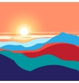 graphics landscape sunset vector image