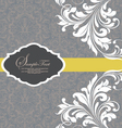 Gray invitation with white floral elements vector | Price: 1 Credit (USD $1)
